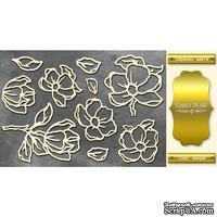 Чипборд Фабрика Декору - Magnolia sky 1, цвет золото