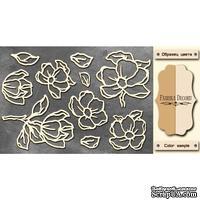 Чипборд Фабрика Декору - Magnolia sky 1, цвет молочный, крафт