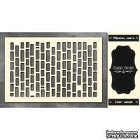 Чипборд Фабрика Декору - Кирпичики 3, цвет черный
