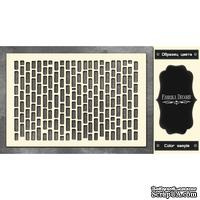 Чипборд Фабрика Декору - Кирпичики 4, цвет черный