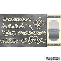 Чипборд Фабрика Декору - Вензели набор 1, цвет серебро