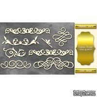 Чипборд Фабрика Декору - Вензели набор 1, цвет золото
