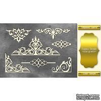 Чипборд Фабрика Декору - Вензели набор 2, цвет золото