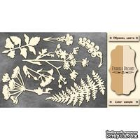 Чипборд Фабрика Декору - Летняя ботаника, цвет молочный, крафт