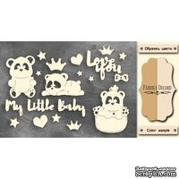 Чипборд Фабрика Декору - My little baby girl 1, цвет молочный, крафт