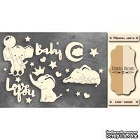 Чипборд Фабрика Декору - My little baby boy 1, цвет молочный, крафт