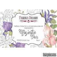 Набор открыток для раскрашивания маркерами Majestic Iris, ТМ Фабрика Декора