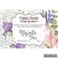 Набор открыток для раскрашивания аква чернилами Majestic Iris, ТМ Фабрика Декора