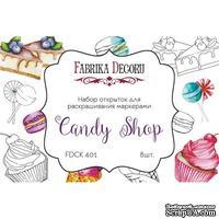 Набор открыток для раскрашивания маркерами Candy shop, ТМ Фабрика Декору