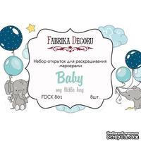 Набор открыток для раскрашивания маркерами My little baby boy, ТМ Фабрика Декора