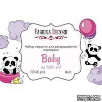 Набор открыток для раскрашивания маркерами My little baby girl, ТМ Фабрика Декора