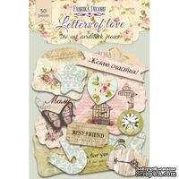 Набор высечек, коллекция Letters of love-1, ТМ Фабрика Декору - ScrapUA.com