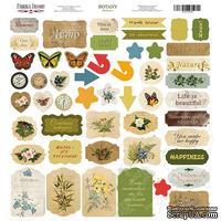 Лист с высечками, коллекция Botany summer,  30,5х30,5см, ТМ Фабрика Декора