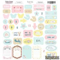 Лист с высечками, коллекция Sweet baby girl,  30,5х30,5см, ТМ Фабрика Декора