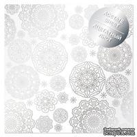 Ацетатный лист с фольгированием Silver Napkins, ТМ Фабрика Декора