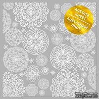 Ацетатный лист с фольгированием White Napkins, ТМ Фабрика Декора