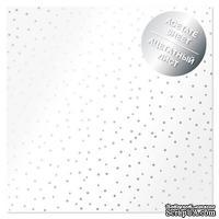 Ацетатный лист с фольгированием Silver Drops 30,5х30,5 см, ТМ Фабрика Декора