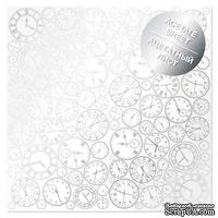 Ацетатный лист с фольгированием Silver Clocks, ТМ Фабрика Декора