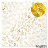 Ацетатный лист с фольгированием Golden Branches 30,5х30,5 см, ТМ Фабрика Декора