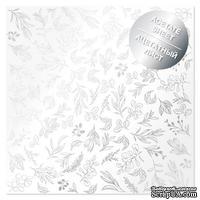 Ацетатный лист с фольгированием Silver Branches 30,5х30,5 см, ТМ Фабрика Декора