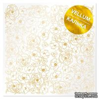Лист кальки (веллум) с фольгированием Golden Pion, ТМ Фабрика Декора