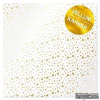 Лист кальки (веллум) с фольгированием Golden Stars, ТМ Фабрика Декора