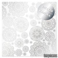 Лист кальки (веллум) с фольгированием Silver Napkins, ТМ Фабрика Декора - ScrapUA.com