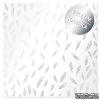 Лист кальки (веллум) с фольгированием Silver Feather, ТМ Фабрика Декора
