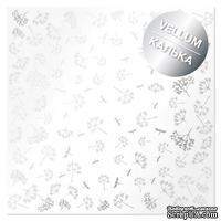 Лист кальки (веллум) с фольгированием Silver Dill, ТМ Фабрика Декора