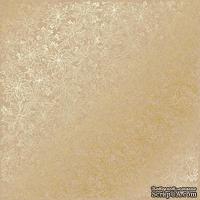 Лист односторонней бумаги с фольгированием Golden Poinsettia Kraft, ТМ Fabrika Decoru