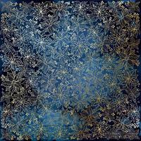 Лист односторонней бумаги с фольгированием Golden Poinsettia Night garden, ТМ Fabrika Decoru