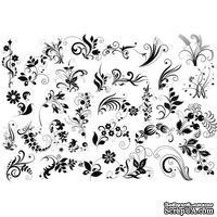 Оверлей Летние цветы 21х29,7 см, ТМ Фабрика Декора