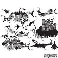 Оверлей - Фабрика Декора -  Города и самолеты, OV-Урбан, размер А4