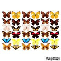 Оверлей - Фабрика Декора -  Бабочки 3-Д, размер А4