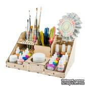 Заготовка ТМ Фабрика Декора - Деревянный органайзер-конструктор для кисточек, красок и карандашей