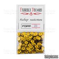 Набор пайеток - 233, размер 8 мм, кружочки, цвет золото, ТМ Фабрика Декора