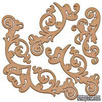 Набор декоративних элементов для шедоубокса №01, ТМ Фабрика Декора