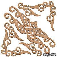Набор декоративних элементов для шедоубокса №03, ТМ Фабрика Декора