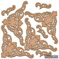 Набор декоративних элементов для шедоубокса №06, ТМ Фабрика Декора