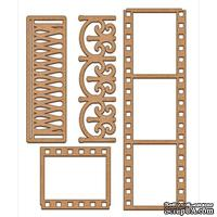 Набор декоративних элементов для шедоубокса №47, ТМ Фабрика Декора