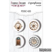 Набор скрапфишек 4шт Journey to Provence 420, ТМ Фабрика Декора - ScrapUA.com