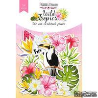 Набор высечек Wild Tropics, 54шт, ТМ Фабрика Декора