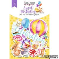 Набор высечек, коллекция Sweet birthday 54шт,ТМ Фабрика Декора
