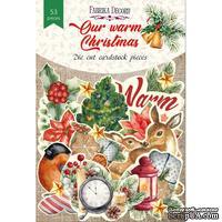 Набор высечек коллекция Our warm Christmas 53 шт, ТМ Фабрика Декора