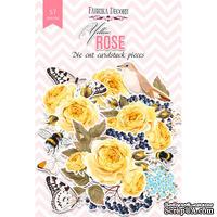 Набор высечек, коллекция Yellow Rose, 57 шт., ТМ Фабрика Декора