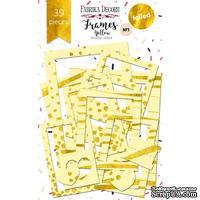 Набор рамок с фольгированием №1 Yellow 39шт, ТМ Фабрика Декору