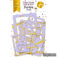 Набор рамок с фольгированием №1 Purple 39шт, ТМ Фабрика Декору
