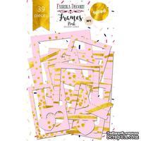 Набор рамок с фольгированием №1 Pink 39шт, ТМ Фабрика Декору