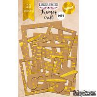 Набор рамок с фольгированием №1 Kraft, 39 шт, ТМ Фабрика Декору