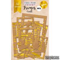 Набор рамок с фольгированием №2 Kraft, 50 шт, ТМ Фабрика Декору